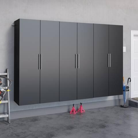 """Prepac HangUps 108-inch 3-piece Storage Cabinet Set K - 108"""" W x 72"""" H x 20"""" D"""