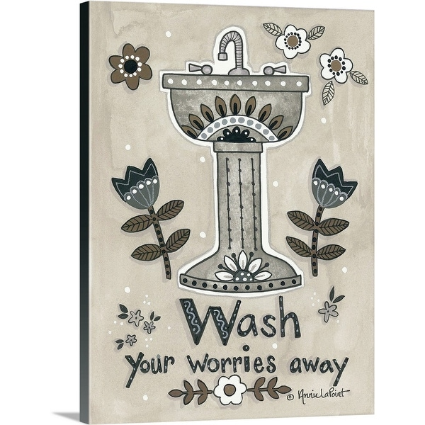 """""""Wash Your Worries Away"""" Canvas Wall Art"""