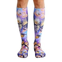 Living Royal Photo Print Knee High Socks: Cat Cravings - Multi
