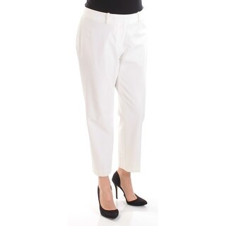 Womens Ivory Wear To Work Straight leg Pants Size 14