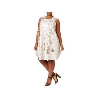 Rachel Rachel Roy Womens Plus Party Dress Sleeveless Knee-Length