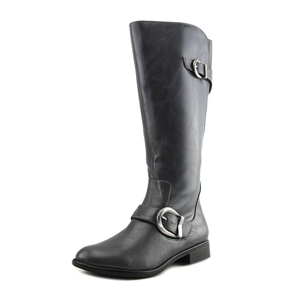 Life Stride Rosaria Wide Calf Gray Boots