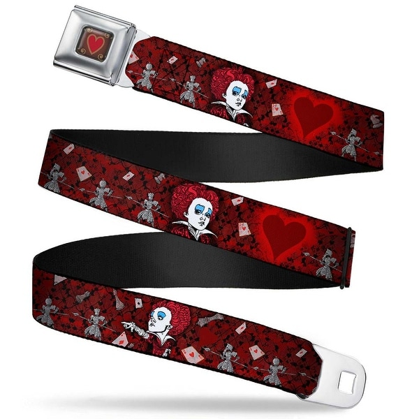 Queen's Heart Full Color Reds Gold Alice In Wonderland Movie Queen Of Seatbelt Belt