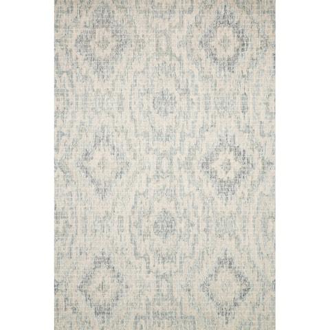 Alexander Home Nile Hand-Hooked Abstract Ikat 100% Wool Rug