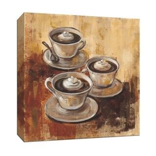 "PTM Images 9-152014  PTM Canvas Collection 12"" x 12"" - ""Grande Macchiato II"" Giclee Coffee, Tea & Espresso Art Print on Canvas"