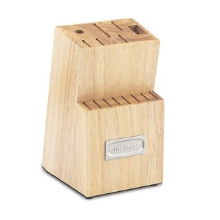 Cuisinart C77TR-14BLK Triple Rivet Collection 14-Slot Cutlery Block, Natural Wood - Natural Wood