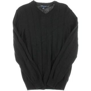 John Ashford Mens V-Neck Pullover V-Neck Sweater