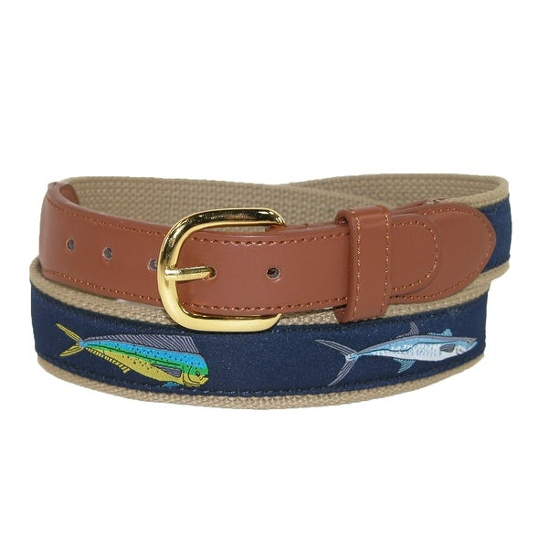 CTM® Men's Fish Print Fabric Belt