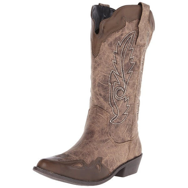 DOLCE by Mojo Moxy Womens Quiggly Closed Toe Mid-Calf Cowboy Boots