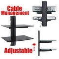 2xhome - NEW TV Wall Mount Bracket (Single Arm) & Double Shelf Package - Secure Cantilever LED LCD Plasma Smart 3D WiFi - Thumbnail 2