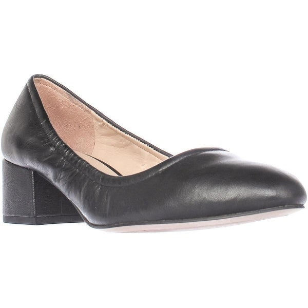 Franco Sarto Fausta Low Block Heel Pumps, Black