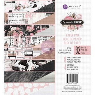 "Amelia Rose; 8 Designs/4 Each - Prima Marketing Double-Sided Paper Pad 6""X6"" 32/Pkg"