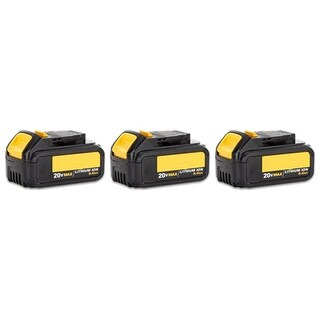 Battery for Dewalt DCB200 (3-Pack) Power Tool Battery