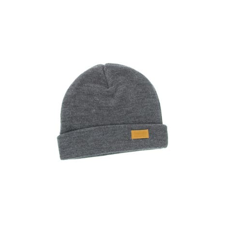 Four Seam Cuffed Beanie Unisex Dark Grey Thick & Warm Knit Winter Hat by Back 40