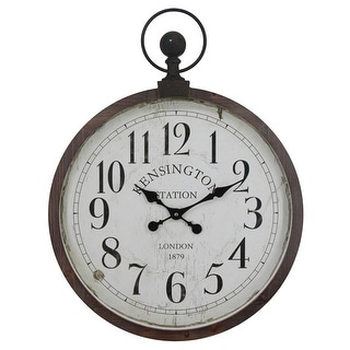 Link to Yosemite Home Decor Kensington Station Pocket Watch Style Wall Clock - 3 x 22.6 x 29.7 Similar Items in Decorative Accessories