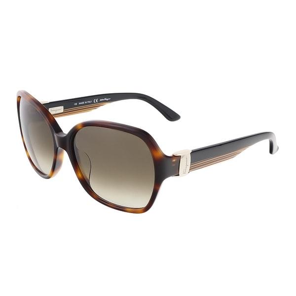 Salvatore Ferragamo SF650S 214 Tortoise Square sunglasses - 57-16-135