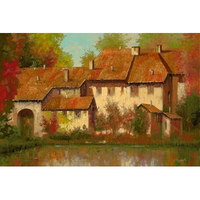 new products 5fd03 c26c0 Borgo Rosso by Guido Borelli Exteriors Art Print