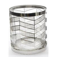 "4"" City Chic Glass Votive Candle Holder with Stainless Steel Cover"