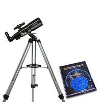 Celestron 21087 PowerSeeker 80AZS Telescope (Black) with Skymaps