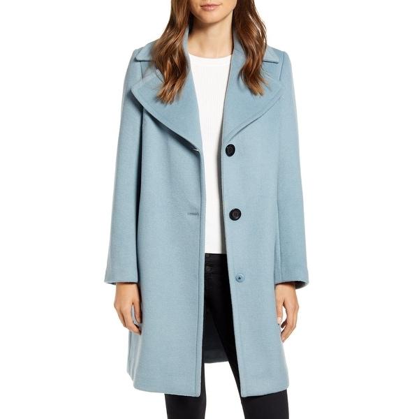 Sam Edelman Women's Coat Blue Size 12 Single Breasted Wool Blend. Opens flyout.