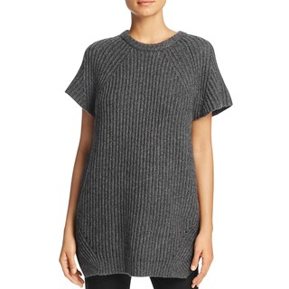 Pure DKNY Womens Pullover Sweater Ribbed Wool
