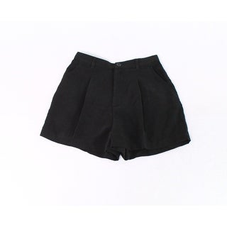 American Apparel NEW Black Womens Size Small S Pleat-Front Dress Shorts