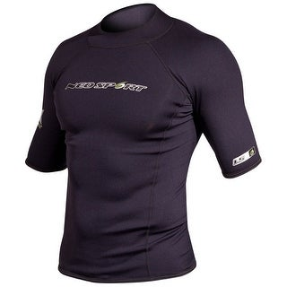 NeoSport Men's 1.5mm Neoprene X-Span Short Sleeve Shirt - Black