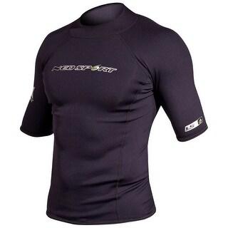 NeoSport Men's 1.5mm Neoprene X-Span Short Sleeve Shirt - Black