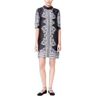 Rachel Roy Womens Casual Dress Printed Short Sleeves - m