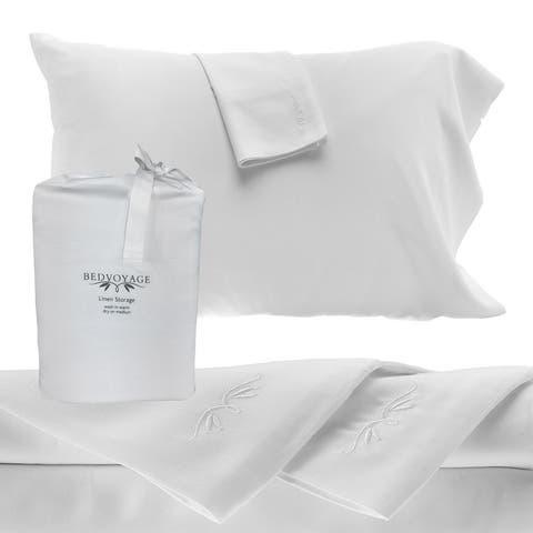 BedVoyage Pure Bamboo Sheets - 4pc Bed Sheet Set - Rayon from Bamboo