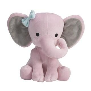 "Bedtime Originals Twinkle Toes Pink/Gray Plush Elephant Stuffed Animal - 10"" Hazel"