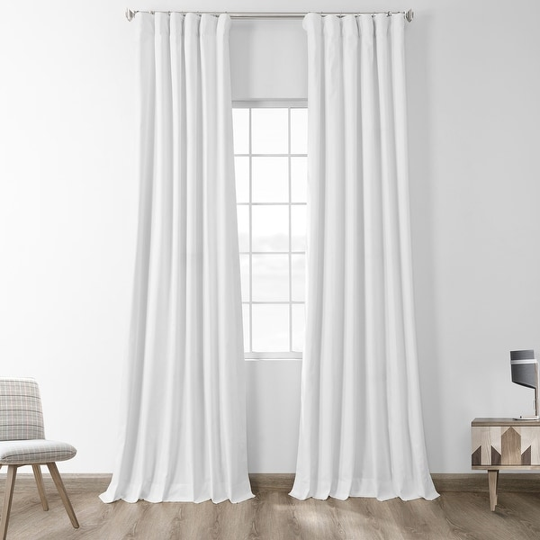 Exclusive Fabrics Solid Cotton True Blackout Curtain Panel