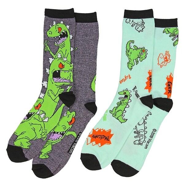Nickelodeon Rugrats Reptar Men's 2 Pack Casual Crew Socks