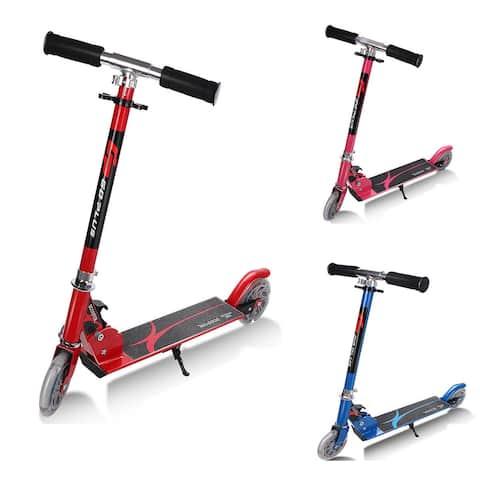 Goplus Folding Aluminum 2 Wheel Kids Kick Scooter Adjustable Height