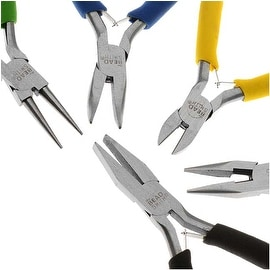 Beadsmith Deal! Jewelry Beading Color I.D. Economy Pliers 5 Piece Set!