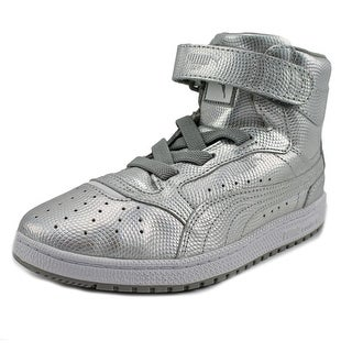 Puma Sky II Hi Holo PS Youth Round Toe Leather Silver Sneakers