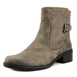Anne Klein Womens Lanette Leather Closed Toe Ankle Fashion Boots