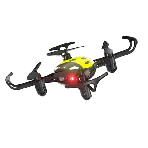 Syma X27 Mini RC DroneLadybug 2.4Ghz 4-AxisQuadcopter Headless Mode Kids Yellow - 4.13 x 4.13 x 1.02 inches