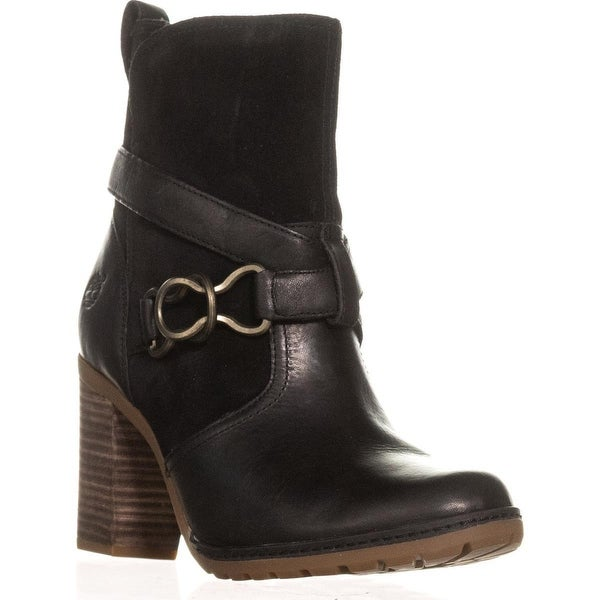 Timberland Dennett Western Buckle Ankle Boots, Black