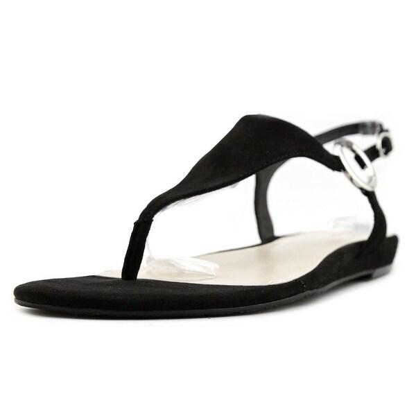 Alfani Honnee Women Open-Toe Suede Black Slingback Sandal