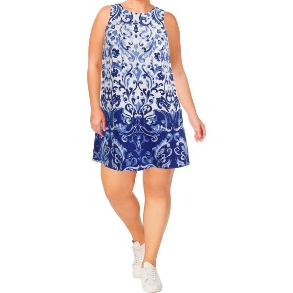 7d23983d91 Lauren Ralph Lauren Womens Paland Avignon Casual Dress Printed Sleeveless