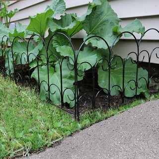 Sunnydaze 5-Piece Victorian Border Fence Set 16-Inches  - 7.5 Overall Feet - 5 Panels