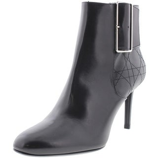 Christian Dior Womens Graphic Leather Belted Booties