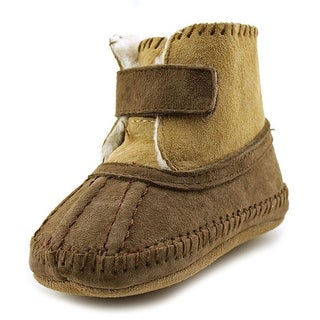 Robeez Galway Cozy Infant Round Toe Suede Brown Bootie