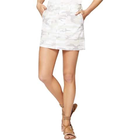 Sanctuary Clothing Womens Released Hem Mini Skirt, Beige, 24