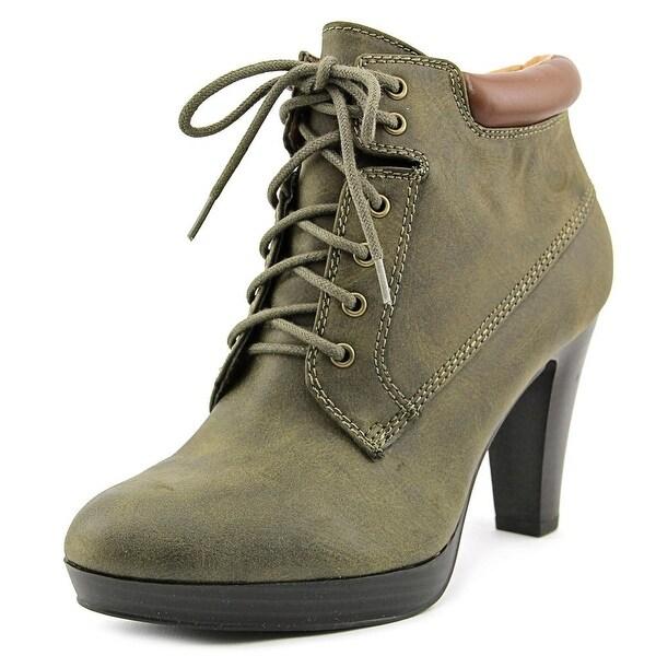 American Living Garnet Women Olive/Tan Boots