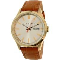 Ted Baker Men's  Brown Leather Quartz Dress Watch