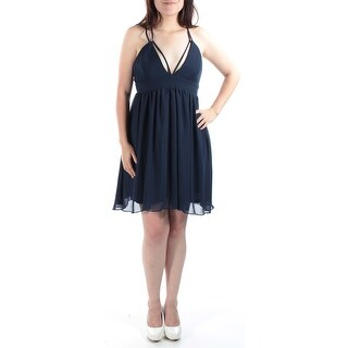 JUMP $90 Womens New 1378 Navy Grecian Empire Waist Cocktail Dress Juniors 7 B+B