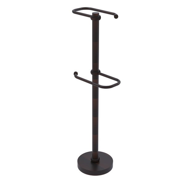 Allied Brass Free Standing Two Roll Toilet Tissue Stand