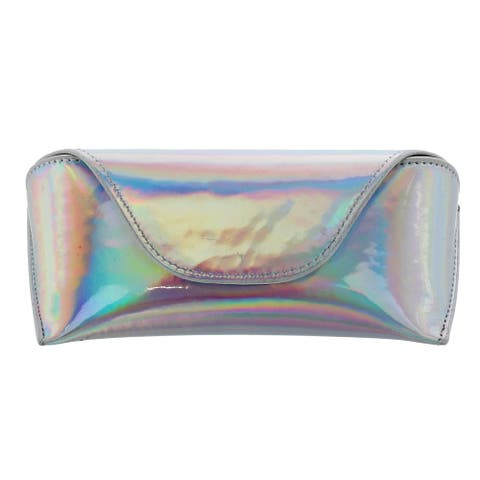 CTM® Women's Iridescent Glasses Case with Magnetic Closure - one size